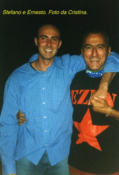 Stefano e il suo fraterno amico e collaboratore, il Maestro Ernesto Massimo Laffi, fotografati da Cristina Di Federico dopo il concerto alla Madonnina.
